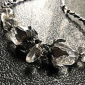 Украшения handmade. Livemaster - original item Necklace Black snow.White ice. Rhinestone,designer accessories. Handmade.