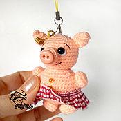 Мягкие игрушки ручной работы. Ярмарка Мастеров - ручная работа Хрюняшики свинка брелок игрушка подвеска. Handmade.