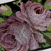 Канцелярские товары ручной работы. Ярмарка Мастеров - ручная работа Обложка на паспорт. Розы. Крестик. Handmade.