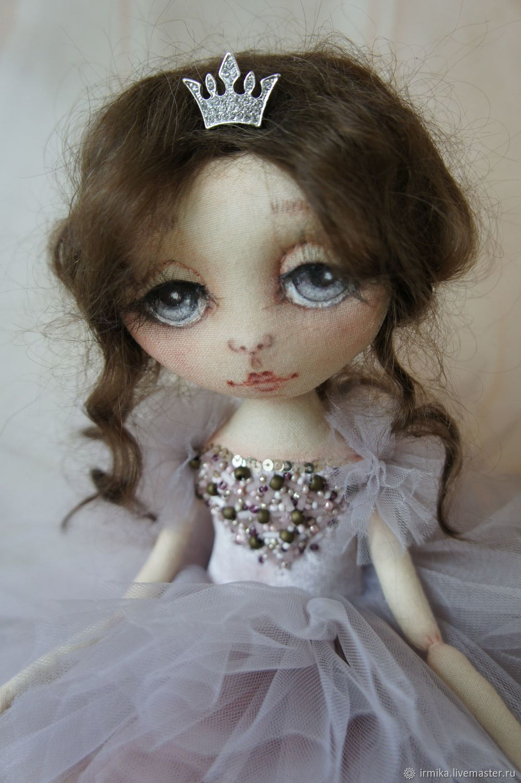 Interior textile doll Ballerina. pink, Dolls, Myski,  Фото №1