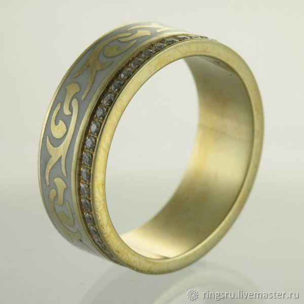 Свадебные украшения ручной работы. Ярмарка Мастеров - ручная работа. Купить Кольцо золотое с бриллиантами. Handmade. Золото, кольцо