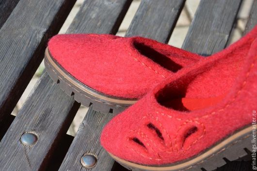 """Обувь ручной работы. Ярмарка Мастеров - ручная работа. Купить """"RED"""". Handmade. Ярко-красный, каждый день"""