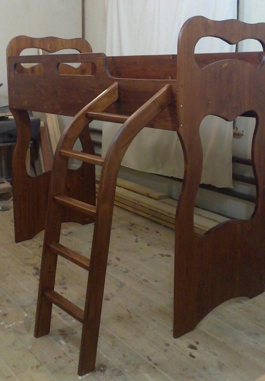 Мебель ручной работы. Ярмарка Мастеров - ручная работа. Купить Кровать чердак. Handmade. Коричневый, детская комната, Мебель, сосна