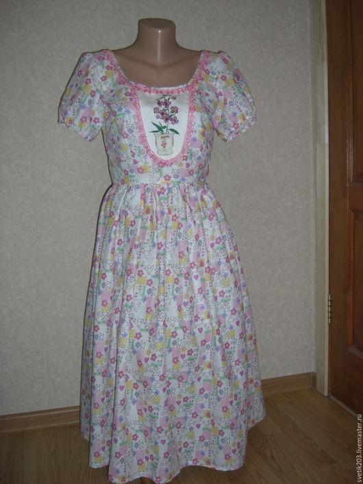 """Платья ручной работы. Ярмарка Мастеров - ручная работа. Купить Платье """"Сударушка"""". Handmade. Платье, длинное платье, платье на заказ"""