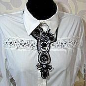 Украшения ручной работы. Ярмарка Мастеров - ручная работа Колье - галстук в винтажном стиле. Handmade.