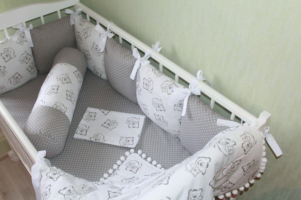 Как сшить бортики подушки в кроватку для новорожденного 97
