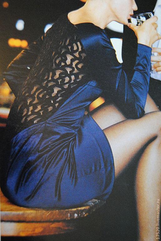Платья ручной работы. Ярмарка Мастеров - ручная работа. Купить Платье Флирт. Handmade. Тёмно-синий, платье, вечернее платье