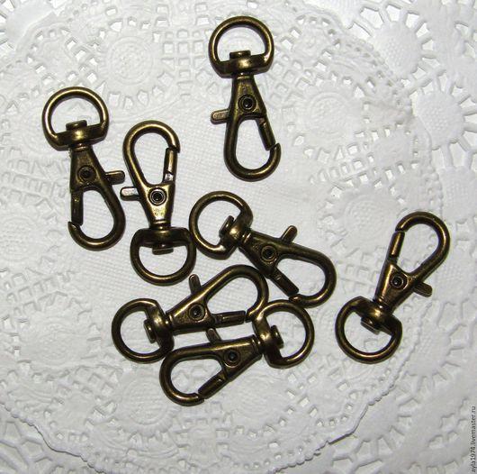 Другие виды рукоделия ручной работы. Ярмарка Мастеров - ручная работа. Купить Карабин 31 х 10 мм,бронза. Handmade.