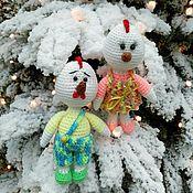 Подарки к праздникам ручной работы. Ярмарка Мастеров - ручная работа Петух и курочка. Handmade.