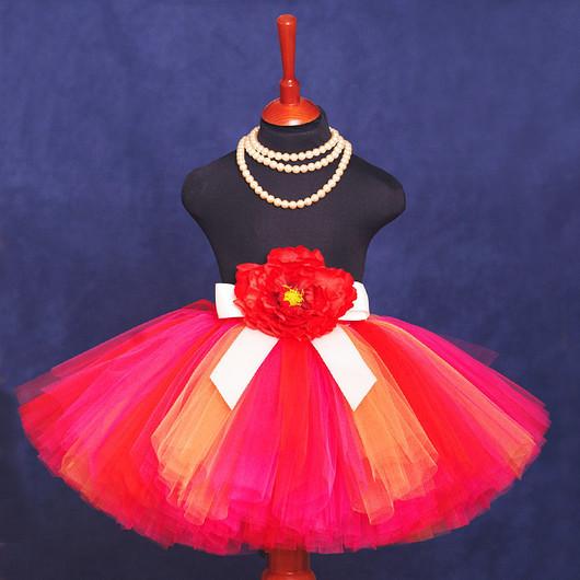 """Одежда для девочек, ручной работы. Ярмарка Мастеров - ручная работа. Купить """"Спелое манго"""" пышная юбка-пачка из фатина. Handmade."""