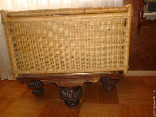 Винтажные предметы интерьера. Ярмарка Мастеров - ручная работа. Купить Старинный плетёный сундук-короб. Handmade. Бежевый, хранение вещей