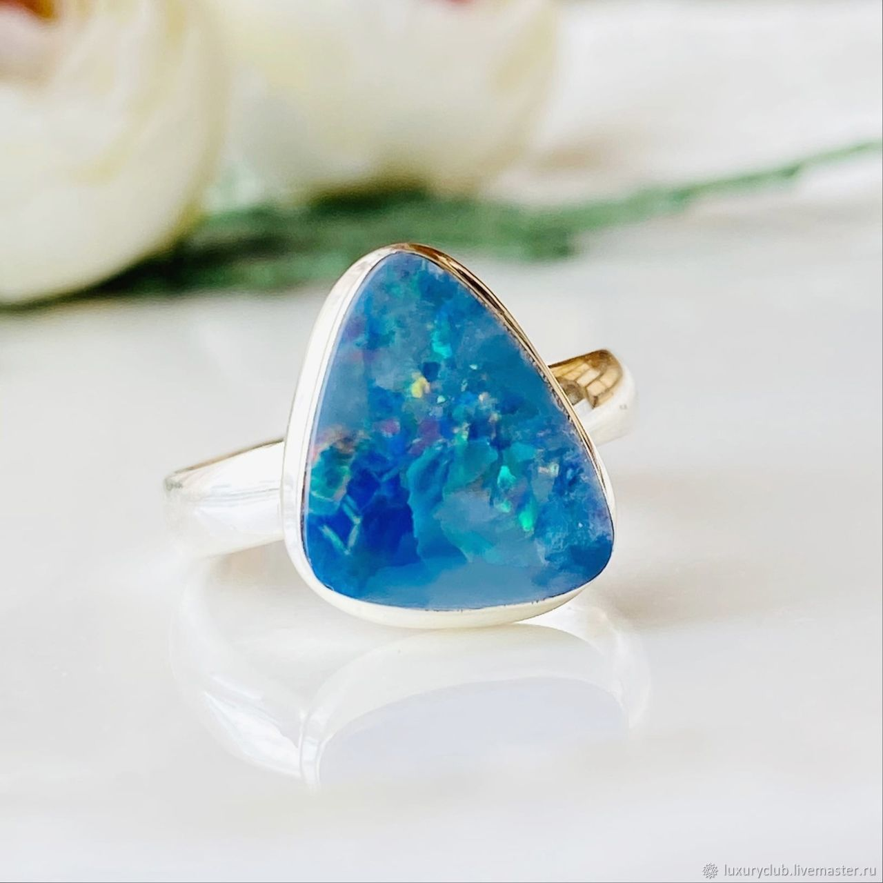Australian opal ring 5 ct buy, Rings, Tolyatti,  Фото №1