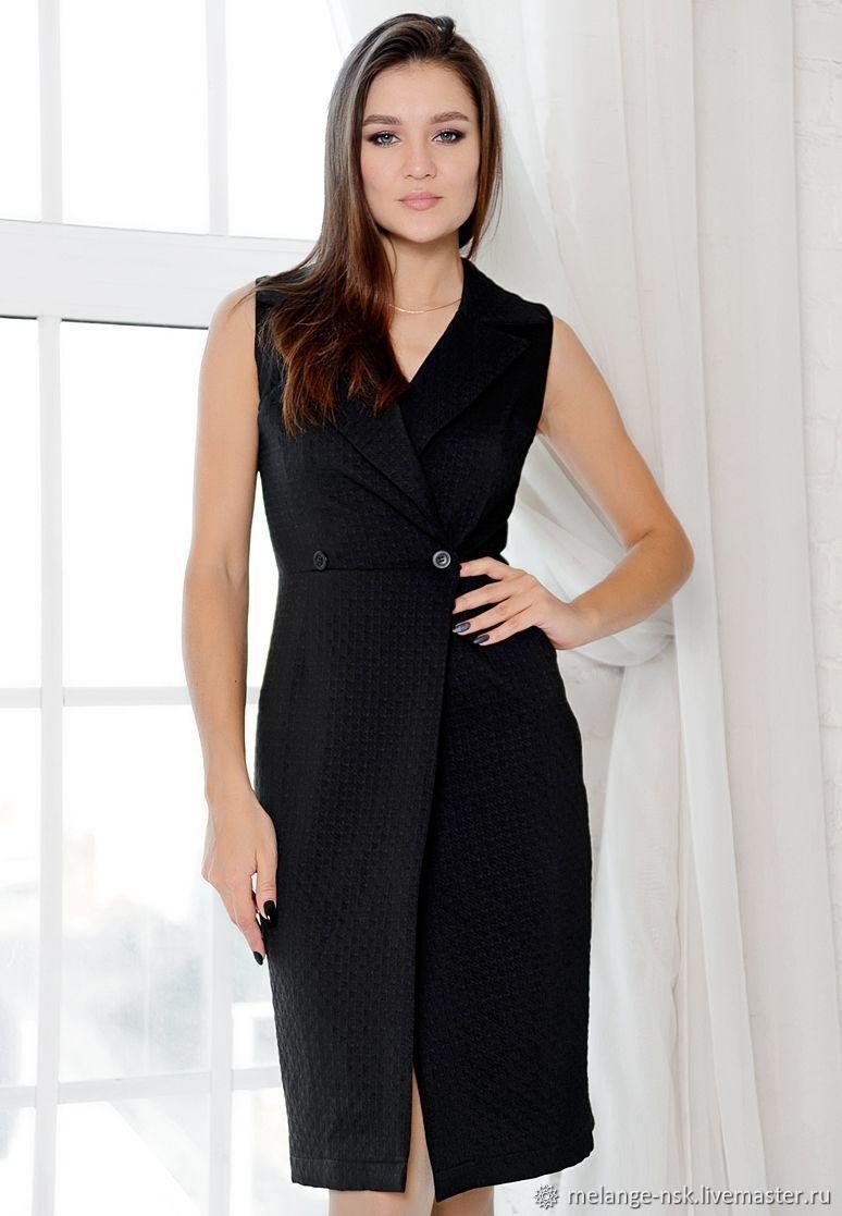 Фото платье с удлиненной жилеткой