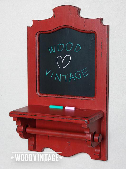 `Красная Сестра` Полка доска для записей мелом вешалка для полотенец