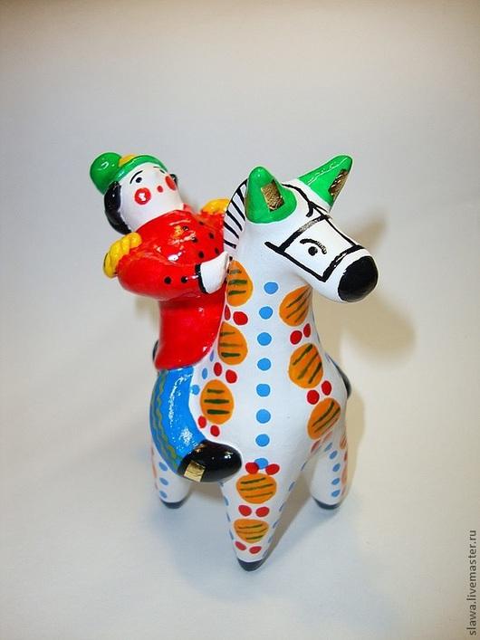 Сувениры ручной работы. Ярмарка Мастеров - ручная работа. Купить Всадник. Handmade. Ярко-красный, конь, символ 2014 года