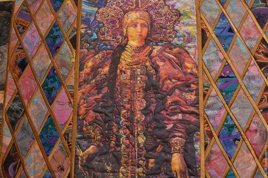 Текстиль, ковры ручной работы. Ярмарка Мастеров - ручная работа. Купить Хозяйка медной горы. Handmade. Разноцветный, лоскутное покрывало