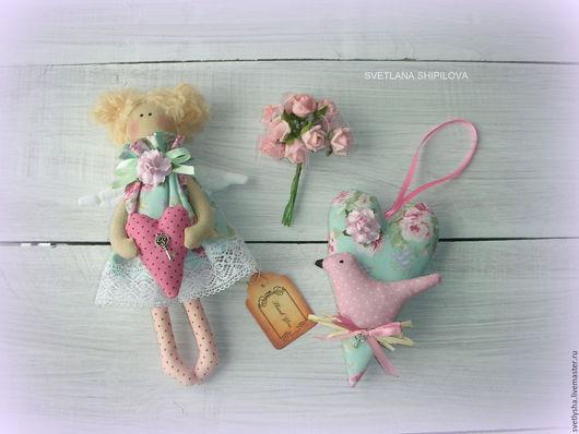 Куклы Тильды ручной работы. Ярмарка Мастеров - ручная работа. Купить Ангел Тильда. Handmade. Бледно-розовый, ангел тильда