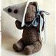 Мишки Тедди ручной работы. котёнок Фантик. Марианна Пташинская. Ярмарка Мастеров. Мишка, фантик, стеклянные глазки