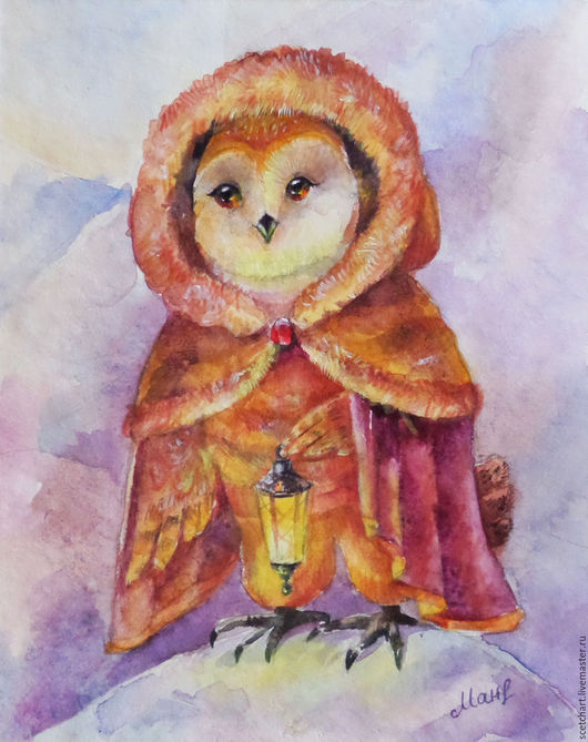 Картина выполнена акварелью на профессиональной акварельной бумаге Canson Montval