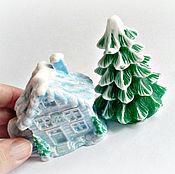 Косметика ручной работы. Ярмарка Мастеров - ручная работа Мыльный набор Домик и елка. Handmade.