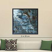 Картины и панно handmade. Livemaster - original item Oil painting large in a stylish interior 76H76. Handmade.