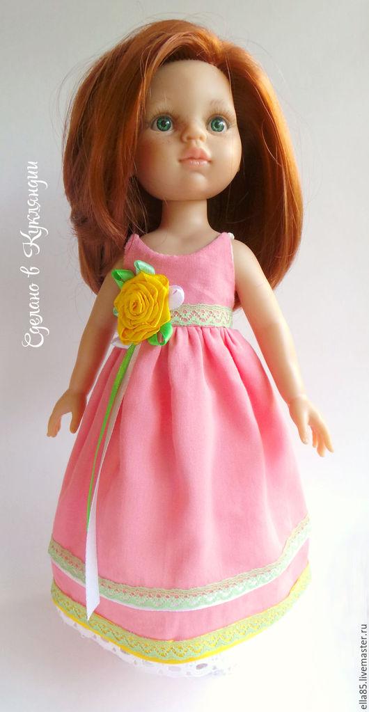 Одежда для кукол ручной работы. Ярмарка Мастеров - ручная работа. Купить Платье  для куклы 32 см. Handmade. Коралловый