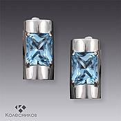 Украшения handmade. Livemaster - original item Earrings with Topaz Business Lady (Topaz silver). Handmade.
