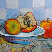 Картины и панно ручной работы. Ярмарка Мастеров - ручная работа Hатюрморт с яблоками. Handmade.