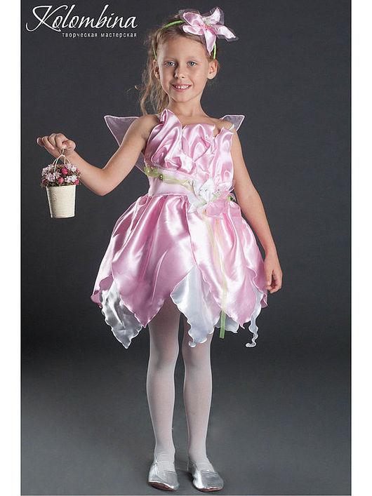 Детские карнавальные костюмы ручной работы. Ярмарка Мастеров - ручная работа. Купить костюм феи-41. Handmade. Розовый