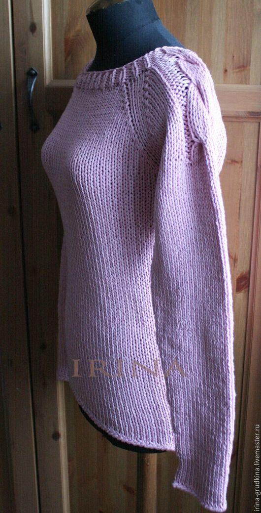 """Кофты и свитера ручной работы. Ярмарка Мастеров - ручная работа. Купить Джемпер """"Холодный розовый"""". Handmade. Бледно-розовый"""