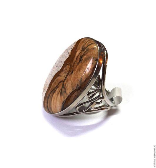 Кольца ручной работы. Ярмарка Мастеров - ручная работа. Купить Кольцо Барханы яшма. Handmade. Оранжевый, яшма Пикассо