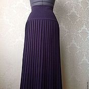 Одежда ручной работы. Ярмарка Мастеров - ручная работа Плиссированная трикотажная юбка. Handmade.