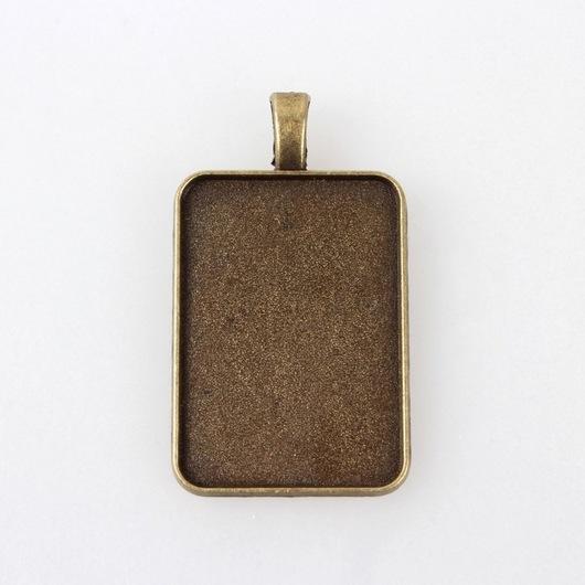 Для украшений ручной работы. Ярмарка Мастеров - ручная работа. Купить Прямоугольник основа под заливку или кабошон. Handmade.