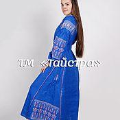 Одежда ручной работы. Ярмарка Мастеров - ручная работа Платье льняное женское вышитое,бохо, этно стиль  Vita Kin,Bohemian. Handmade.