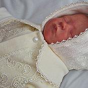 Работы для детей, ручной работы. Ярмарка Мастеров - ручная работа Комбинезон для новорожденного. Комбинезон - конверт.. Handmade.