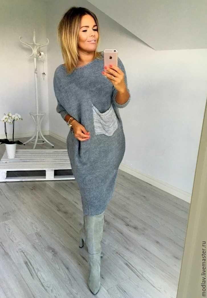 Платье с карманом фото