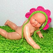 Работы для детей, ручной работы. Ярмарка Мастеров - ручная работа шапочка для фотосессии новорожденных (фотосессия шапка). Handmade.