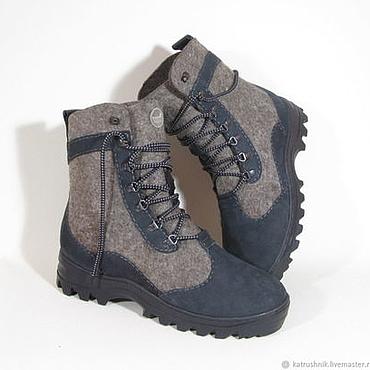 """Обувь ручной работы. Ярмарка Мастеров - ручная работа Ботинки валяные""""Енисей"""". Handmade."""