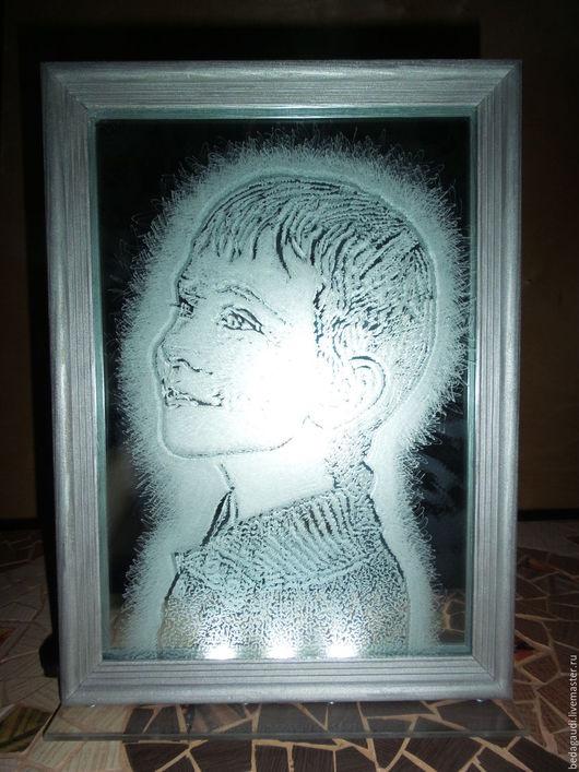 Персональные подарки ручной работы. Ярмарка Мастеров - ручная работа. Купить Портрет на зеркале.. Handmade. Серебряный, портрет по фото
