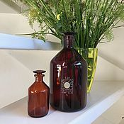 Винтаж handmade. Livemaster - original item Apothecary jars of glass, 2 PCs., Germany. Handmade.