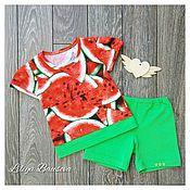 Одежда handmade. Livemaster - original item Set of t-shirts and shorts for the boy.. Handmade.