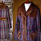 """Верхняя одежда ручной работы. Ярмарка Мастеров - ручная работа. Купить Пальто в клетку утеплённое """"Шотландский тартан""""с норкой. Handmade."""