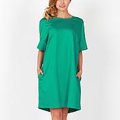 Одежда handmade. Livemaster - original item Loose dress emerald green. Handmade.