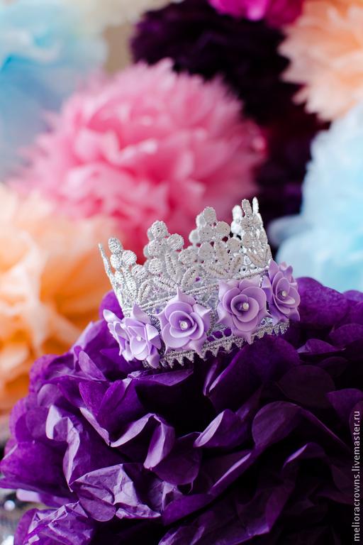 Диадемы, обручи ручной работы. Ярмарка Мастеров - ручная работа. Купить Корона для маленькой принцессы (серебряная). Handmade. Корона