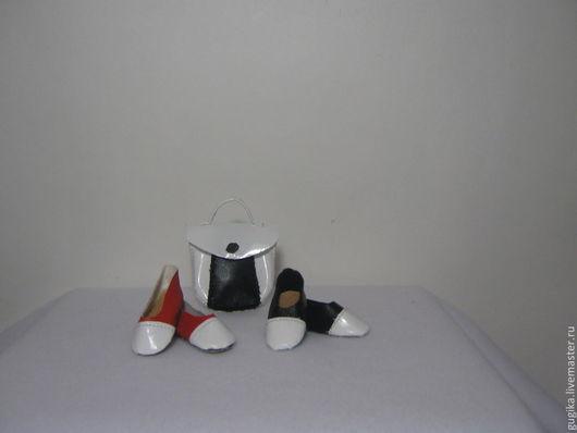 Куклы и игрушки ручной работы. Ярмарка Мастеров - ручная работа. Купить туфли для тильд модель 3. Handmade. Чёрно-белый