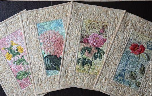 """Текстиль, ковры ручной работы. Ярмарка Мастеров - ручная работа. Купить Комплект салфеток для сервировки """"Прованс"""". Handmade. Бежевый, цветы"""