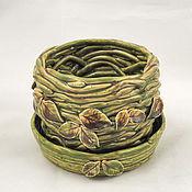 Цветы и флористика handmade. Livemaster - original item Flower pot Swamp nymph. Handmade.
