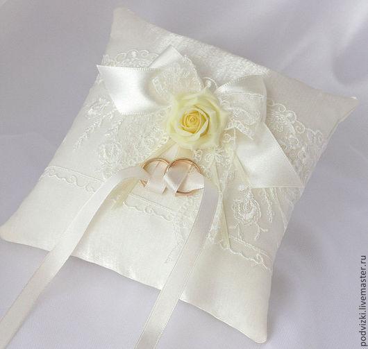Подушечки для колец  Подушечка для загса Свадебные подушечки подушечка Подушечка для свадьбы подушечка под кольца