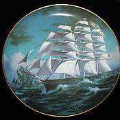 Винтаж handmade. Livemaster - original item Collection plates of the great Ships series, England. Handmade.
