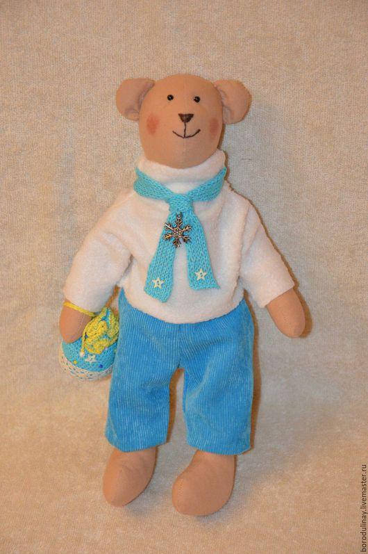 Куклы Тильды ручной работы. Ярмарка Мастеров - ручная работа. Купить Зимний мишка. Handmade. Бирюзовый, тильда медведь